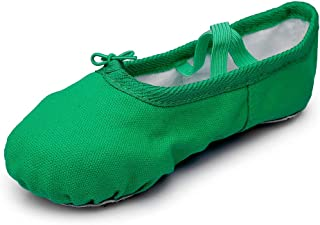 MSMAX Kids Canvas Ballet Shoes Women Professional Dance Flats (Toddler/Little Kid/Big Kid)