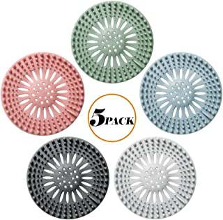 Hair Catcher, Bathroom Sink & Bathtub Drain Strainers Durable Silicone Hair Stopper Shower Drain Covers Easy to Install and Clean Suit for Bathtub and Kitchen (5 Pack)