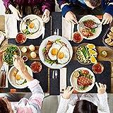 Queta Platzset-Set, 6Stk edle Platzsets, 6 Tassenmatten, 6 Messer- und Gabelabdeckungen aus Filz, 45x30x3cm abwaschbares Tischset, Platzdeckchen, grau Platzsets, Tischmatte - 2