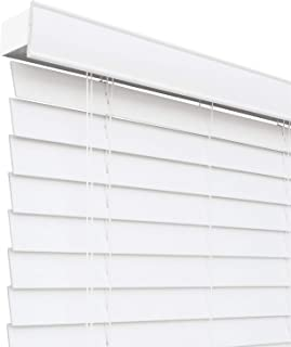 CHICOLOGY Custom-Made 2-Inch Faux Wood Blind, Simply White/Horizontal Window Shade/Inside Mount, 76