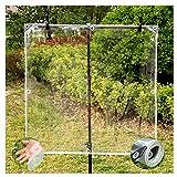 WHAIYAO Lona Transparente De Vidrio Resistente Al Agua Resistente Lona Transparente Tela Plastica para Plantas Invernadero Techo con Cordón, 400g / ㎡ (Color : Clear, Size : 2X2M)