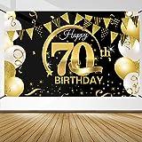 70 Geburtstag Dekoration Schwarz Gold, 70 Geburtstag