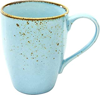 Creatable 22068, 6-er Kaffeebecher 30 cl, Nature Collection, LIGHTBLUE crockey, Stoneware, Light Blue
