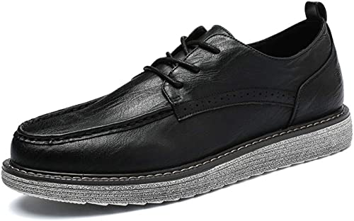 JIALUN-Schuhe Herren Classico Business Oxford Freizeitmode Neue Handgefertigte Retro Einfachheit Laufsohle Formelle Schuhe (Farbe   Schwarz Größe   44 EU)