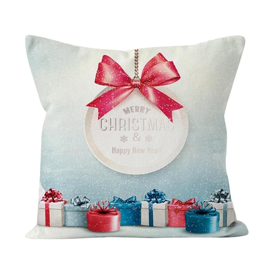 混乱した抵抗プレミア人気のセール。 Merry クリスマス 枕カバー Jushye Happy Santa Claus リネン 枕カバー ソファクッションカバー ホームデコレーション (V)