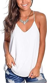 LACOZY Womens Summer V Neck Racerback Tank Tops Loose Flowy Sleeveless Shirts Blouses
