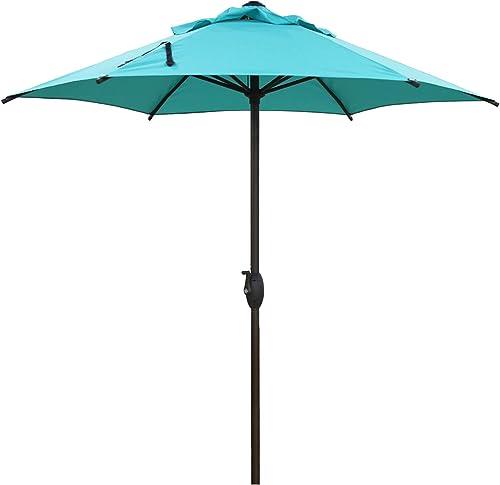 Abba Patio 7.5ft Patio Umbrella Outdoor Umbrella Patio Market Table Umbrella with Push Button Tilt and Crank for Gard...