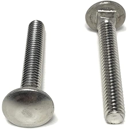 10 Pcs Super-Deals-Shop Stainless Steel Bolt Carriage Bolts Screws Pack Silver Lag Bolts Round Head Fasteners Carriage Bolt Elevator Bolts Full Thread 5//16-18 X 3//4