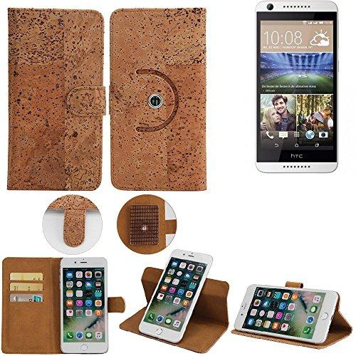 K-S-Trade Handy Schutz Hülle Kompatibel Mit HTC Desire 620G Dual SIM Korkhülle 1x