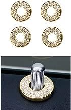 1797 Compatible W204 W205 W213 X204 X253 C E GLC Class Door Lock Pins Caps Mercedes Benz Accessories Parts Bling Inner Covers Decals Sticker Interior Inside Decorations AMG Women Men Crystal Gold 4pcs