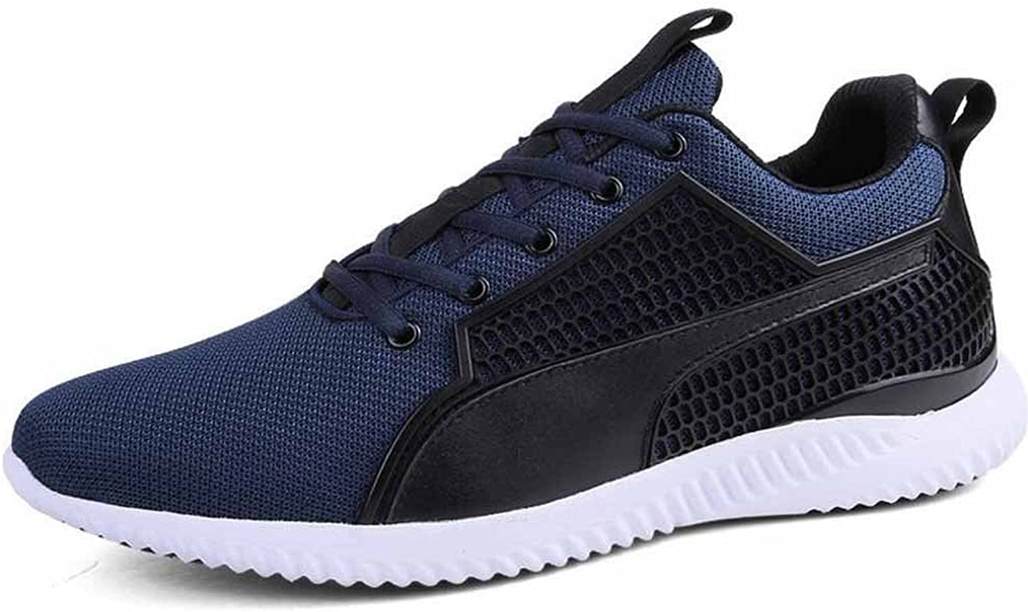 Men Breathable Running shoes Hidden Heel Autumn Casual Mesh shoes Lifts Athletic shoes