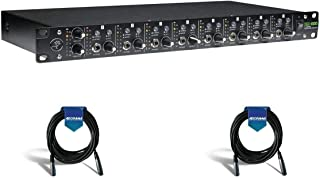 Mackie HM-800 Rack-Mountable 8-Channel Headphone Amplifier - with 2 Pack 20' Heavy Duty 7mm Rubber XLR Microphone Cable
