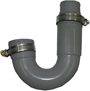 LASCO 25-6860 Flexible Rubber P-Trap with Worm Drive Clamps for OD Tubes, 1 1/2