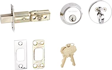 Baldwin Estate 8041.260 Low Profile Contemporary Single Cylinder Deadbolt in Polished Chrome