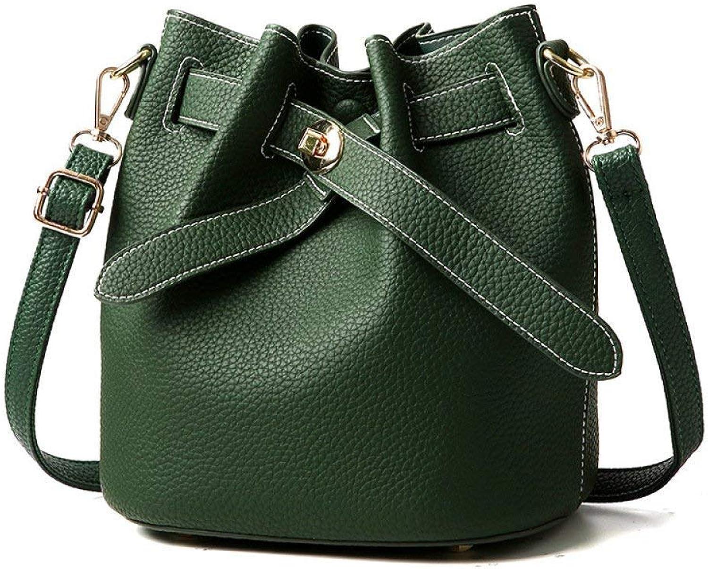 Willsego Damen Tasche Trend Wild Schultertasche Handtasche Umhängetasche (Farbe   Grün, Größe   20  16  22CM) B07KD4M22T  Wertvolle Boutique