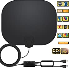 Amplified HD Indoor Digital TV Antenna Long 250 Miles Range Antenna Support 4K 1080p Fire Stick and All Television, Indoor...