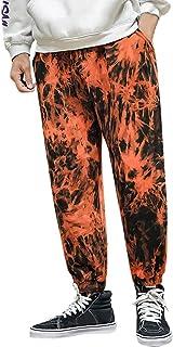 OULSEN Fashion Mens Trousers Cargo Pants Tie-dye Print Loose Casual Harem Pants Trousers Long Pants Men Plus Size