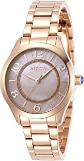 Invicta Women's Angel Quartz Watch with Stainless Steel Strap, Rose Gold, 16 (Model: 31112)