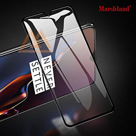 Marshland Screen Protector Full Glue 6D Anti Scratch Bubble Free Oleo Phobic Coating Tempered Glass Compatible with Oneplus 7 – Black