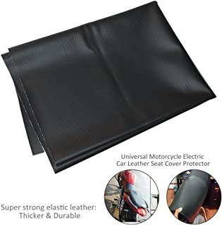 Motorcycle Leather Seat Cover, Wear-Resistant Universal Motorcycle Scooter ATV Leather Seat Cover Protector 90 × 70 cm/35.43 × 27.56 inch