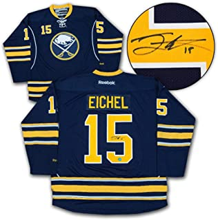 Jack Eichel Signed Jersey - Blue Reebok Premier Size Medium - Autographed NHL Jerseys