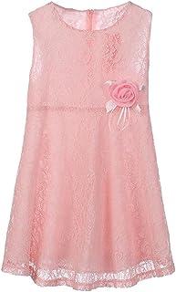 Aliciga 子供 ワンピース レース 花 ドレス チャイルド プリンセス パーティードレス ガールズ 袖なし ゆったり 夏 子供ドレス 女の子 可愛い キッズ スカート