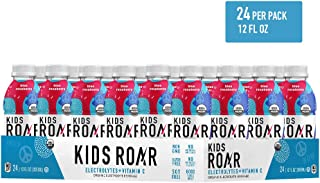KIDS ROAR - USDA Certified Organic Electrolyte Hydration Drink for Children - Healthy Sports Beverage - Vitamin C, No Artificial Colors or Flavors, Gluten-Free (24-Pack) (Blue Raspberry)