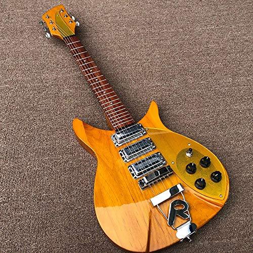 MLKJSYBA Guitarra Guitarra Eléctrica Tamaño Corta Guitarra Eléctrica De Madera sobre El...