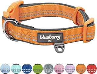 Blueberry Pet 9 Colors Soft & Safe 3M Reflective Pastel Color Neoprene Padded Dog Collars, Harnesses or Leashes