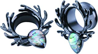 2pcs Stainless Steel Ear Plugs and Tunnels - Ear Expander Ear Gauges Stretcher Body Piercing Jewelry 2g-5/8