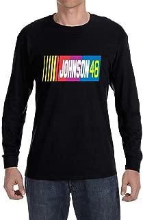 Black Johnson 48 Logo Long Sleeve Shirt