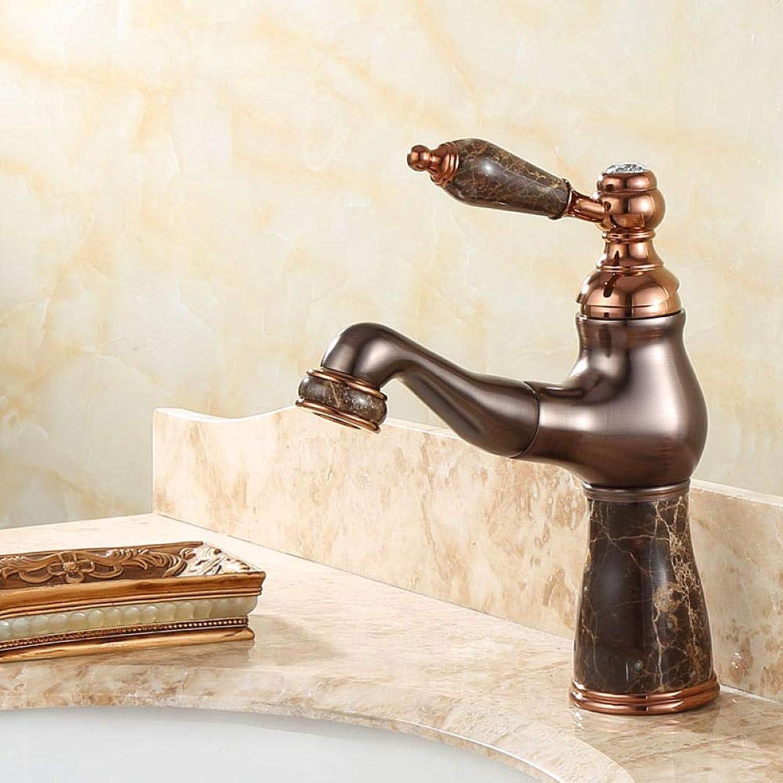 CZOOR American Kupfer natürliche Jade Tisch unter dem Becken heien und kalten Wasserhahn europischen schwarzen RoséGold Universal-Wasserhahn A162
