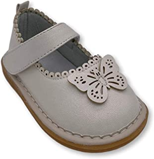 Wee Squeak Toddler Squeaky Shoes Camille Gold Size 4
