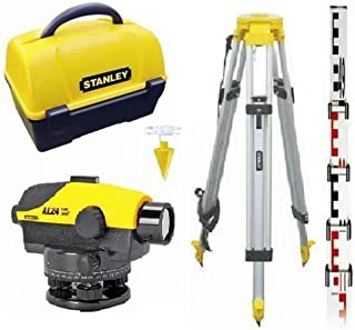 Stanley Level AL24GVP Levelling Instrument Set with Tripod and Carry Case, 1–160