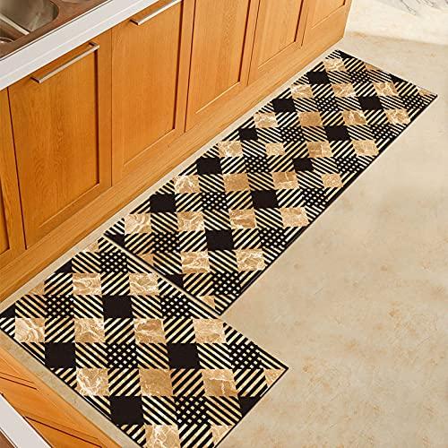 HLXX Alfombrillas de cocina lavables, antideslizantes, largas para puerta de baño, dormitorio, sala de estar, cabecera, tamaño A7, 40 x 120 cm
