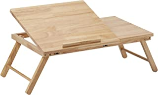 PJ Wood Folding Half-Open Top Laptop Desk and Bed Table - Natural