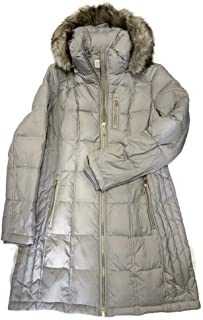 Womens Zip Front Down with Faux Fur Trim Hood M821883G