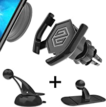 SPINOO Pop Clip Car Mount for Pop Grip Users – Includes Custom Phone Grip Socket & 3 Adjustable & Sturdy Pop Grip Car Mounts Such as 1 Windshield Mount, 1 Air-Vent Mount, 1 Dashboard Mount