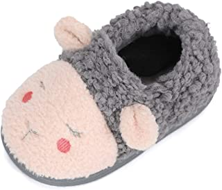 LACOFIA Girls Boys Warm Slippers Soft Plush Slippers Toddler Cartoon Animal Home Slippers Little Kids House Shoes