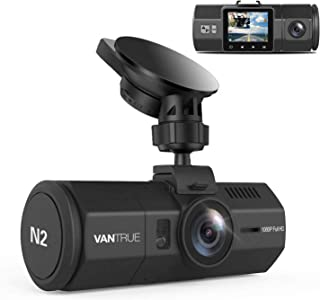 """Vantrue N2 Uber Dual Dash Cam-1080P Inside and Outside Dash Camera for Cars 1.5"""" Near 360° Wide Angle Lyft Dashboard Cam w/ Parking Mode, Motion Detection, Front Camera Night Vision Effects"""
