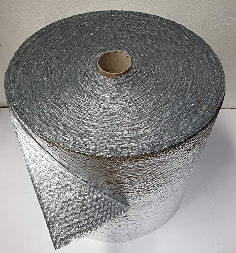 Luftpolsterfolie ALUMINIUM 50 cm x 60 m 250 my ALU Isolierung Noppenfolie Knallfolie Verpackungsfolie Blisterfolie Polsterfolie Isolierband Isolierungsfolie Wärmehaltung Isolierfolie