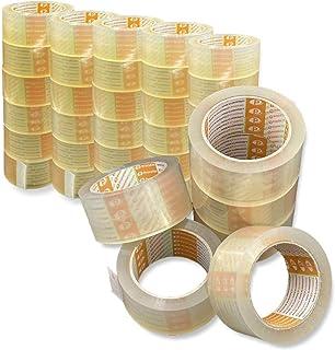 Printation 36er Set 50mm verpakkingstape transparant - sterk, scheurvast en geluidsarm verpakkingstape voor pakketten en p...