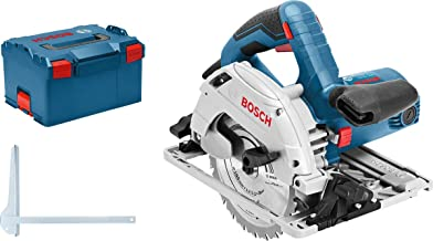 Bosch Professional GKS 55+ GCE - Sierra circular (1350 W, diámetro del disco de sierra 165 mm, velocidad constante, en L-BOXX), azul