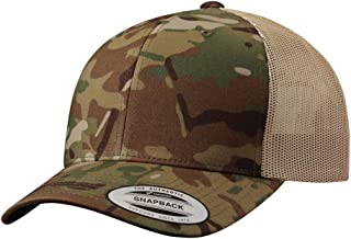 Yupoong Retro Trucker Hat & 2-Tone Snapback - 6606 Multicam Green/Khaki