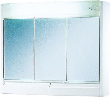 Armoire de toilette 3 portes - Glace de salle de bain avec eclairage ...
