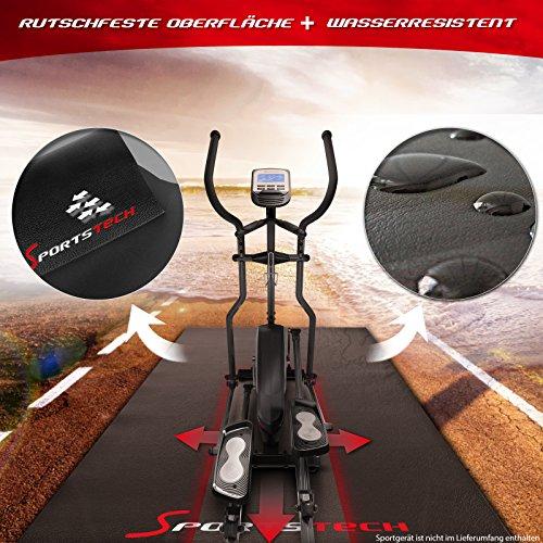 Sportstech Bodenschutzmatte für Fitnessgeräte Heimtrainer 4