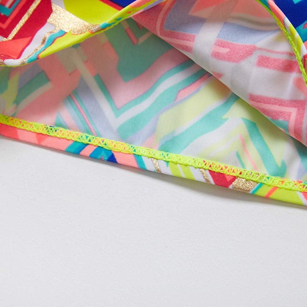 Two Pieces Swimsuit for 7-12T Big Kids Girl Bikini Set Swimwear Striped Backless Straps Tops+Shorts Tankini Bathing Suit