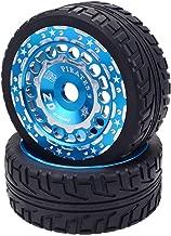 Garciasia Ruedas y neumáticos 1/8 Buggy/On-road Car/Tourning Car para Redcat Team Losi VRX HPI Kyosho HSP Carson Hobao Trucks (Color: Negro # 2)