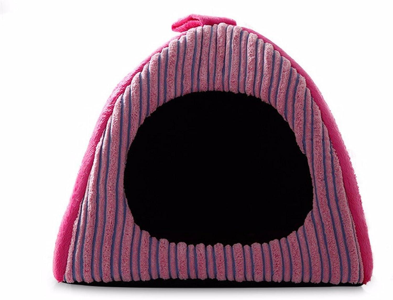 KAI Dog Mat Dog Beds Cat Beds Teddy dog pet cat house cat sleeping cat pet dog,383835cm,Red stripe