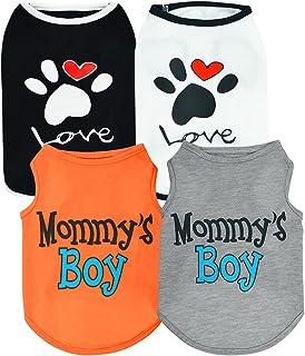 Sebaoyu 4 Pack Dog Puppy Clothes for Small Medium Dogs Boy Girl-Puppy Dog Clothing Shirts Female...